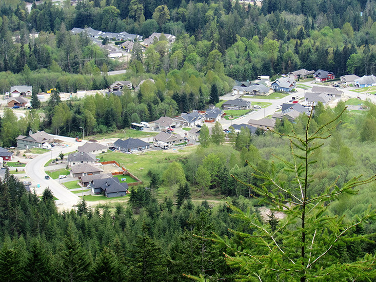 View from the properties for sale in Lake Cowichan