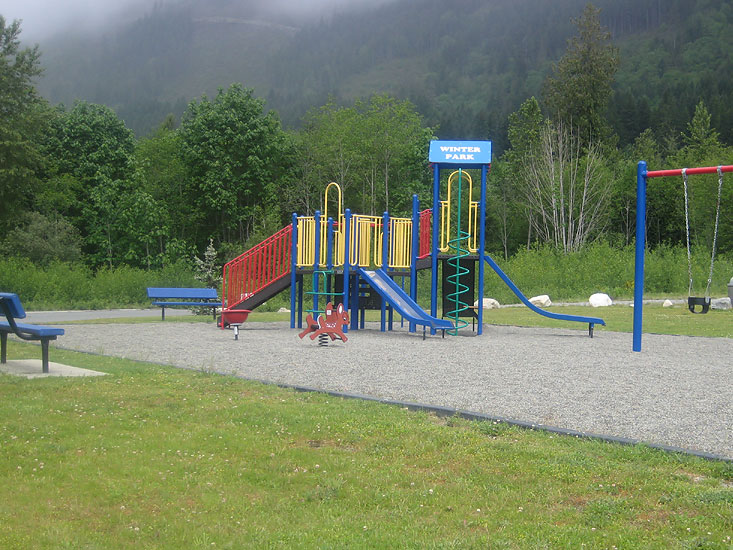 Childrens Playground in Lake Cowichan